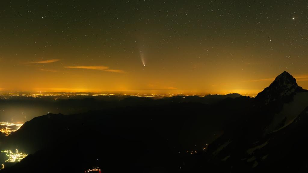 Der Komet Neowise verabschiedet sich wieder