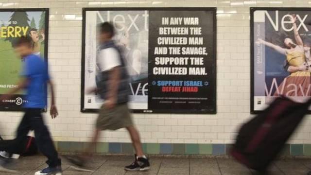Die umstrittenen Plakate wurden in New Yorker U-Bahn-Stationen aufgehängt.