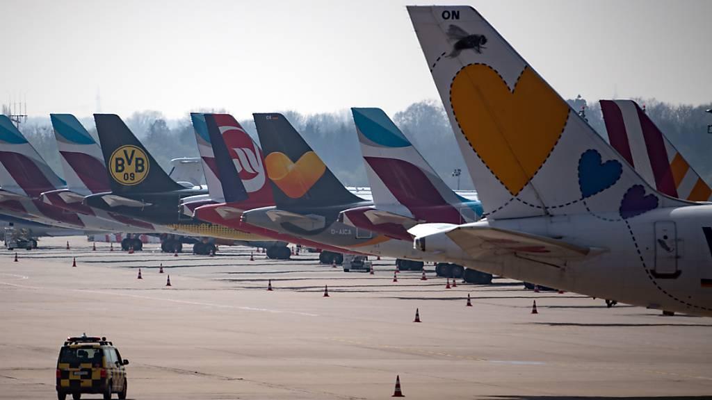 Immer noch mehr als 3000 Passagierjets in Europa am Boden