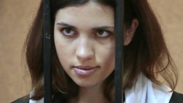 Wieder einmal festgenommen: Nadeschda Tolokonnikowa von der Band Pussy Riot macht offenbar Putins Kreml nervös.
