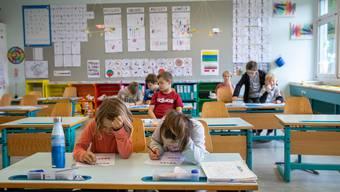 Die Schülerinnen und Schüler sind froh, wieder im Unterricht zu sitzen.