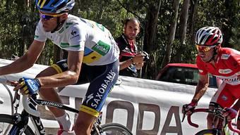 Alberto Contador (links) löst Joaquim Rodriguez als Leader ab