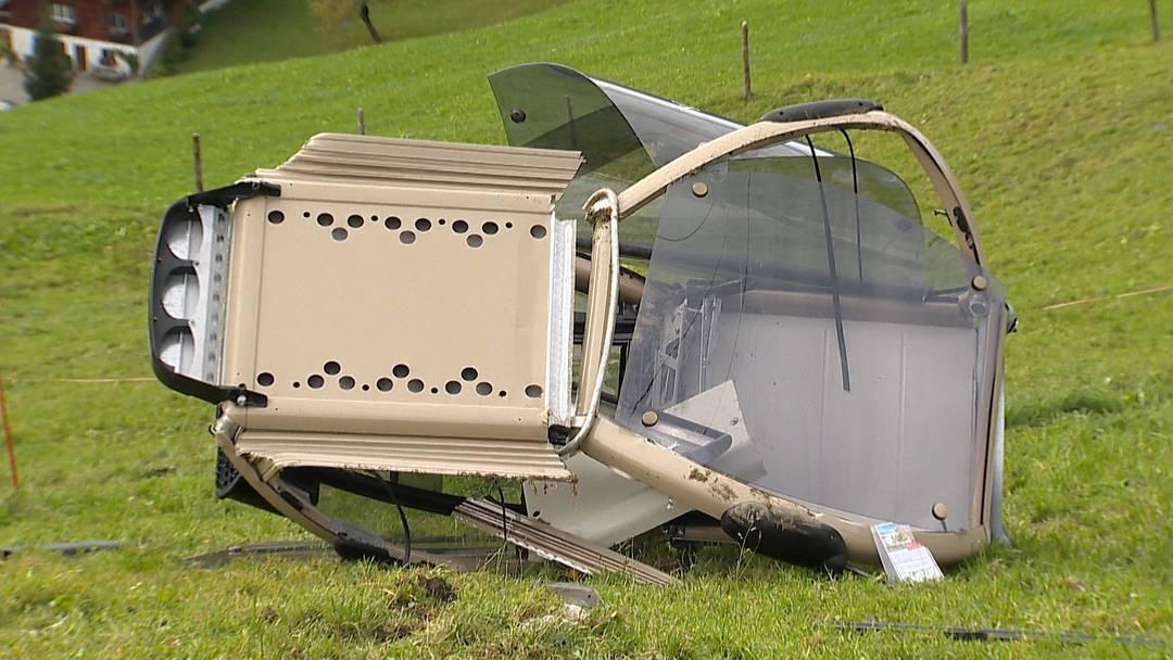 Rickenbach (SZ): Gondel stürzt 20 Meter in die Tiefe