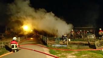 Schrebergartenbrand in Lenzburg