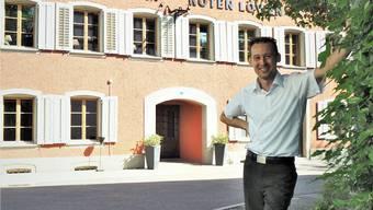 Elf Jahre lang war Rolf Müller (39) Direktor des Hotels Lenzburg. Nun führt er mit Elian Busiello den «Löwen».