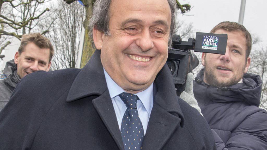 Michel Platini bei seiner Ankunft am Montag am FIFA-Hauptsitz in Zürich