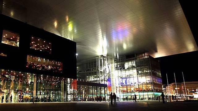 Das Kunst und Kongresszentrum Luzern by night (Archiv)