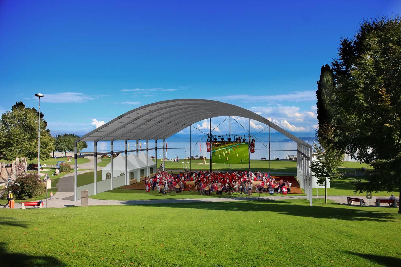 In der FM1-WM-Arena kannst du die Schweizer Nati anfeuern. (Bild: pd)