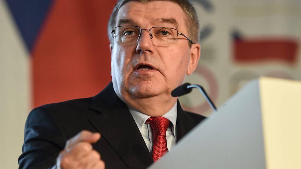 IOC-Chef Thomas Bach präsentierte in Prag interessante Vorschläge
