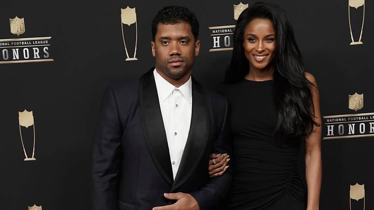 """US-Sängerin Ciara (34) und ihr Ehemann, der Footballspieler Russell Wilson (31), erwarten ein Kind. """"Nummer 3"""" schrieben beide am Donnerstag auf Instagram. (Archivbild)"""