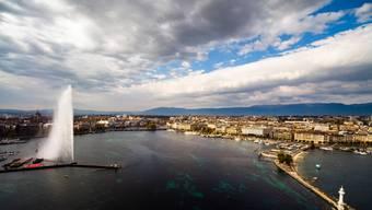 Das Genfer Seebecken ist dieser Tage weniger bevölkert: Es fehlen die Touristen.
