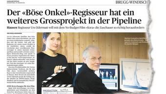 Über die Zeitung hat Metzgermeister Hansruedi Meier von den Plänen der Filmemacher erfahren – und sich geärgert.