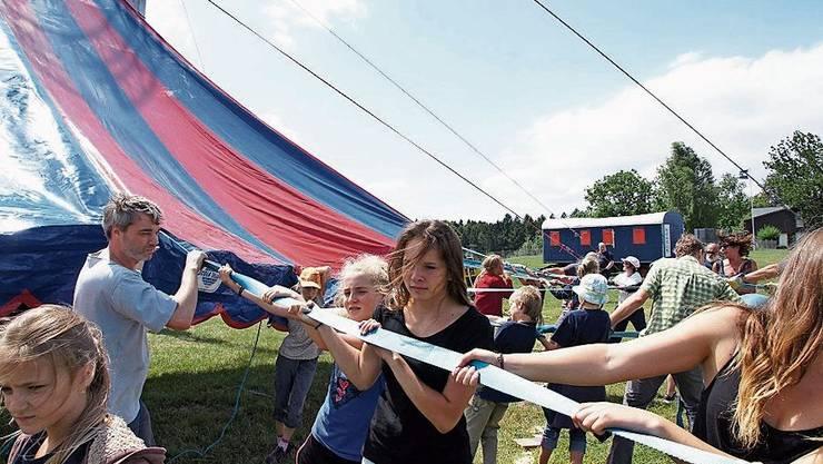 Künftig steht das Zelt des Jugendzirkus in Mellingen.
