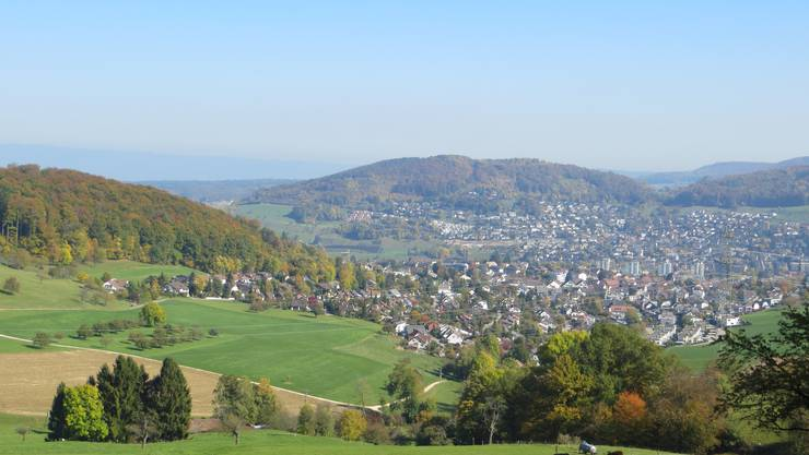 Blick auf Frenkendorf und Füllinsdorf