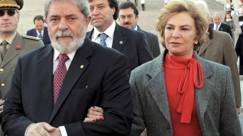 Marisa Leticia Rocco an der Seite ihres Mannes, Lula, 2008. Nach einem Schlaganfall ist die ehemalige First Lady Brasiliens am Freitag verstorben.