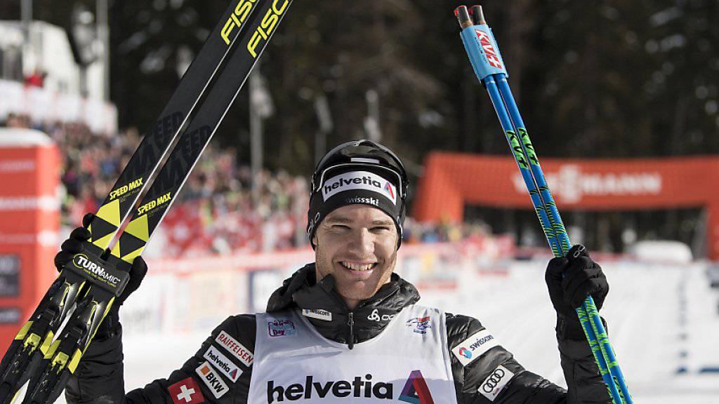 Erster Weltcup-Triumph vor Heimpublikum: Dario Cologna