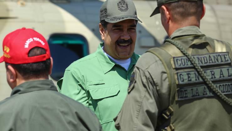 Venezuelas Staatspräsident Nicolas Maduro hält Ex-Geheimdienstchef Cristopher Figuera für einen der Drahtzieher des gescheiterten Umsturzversuchs von vergangener Woche. (Archivbild)