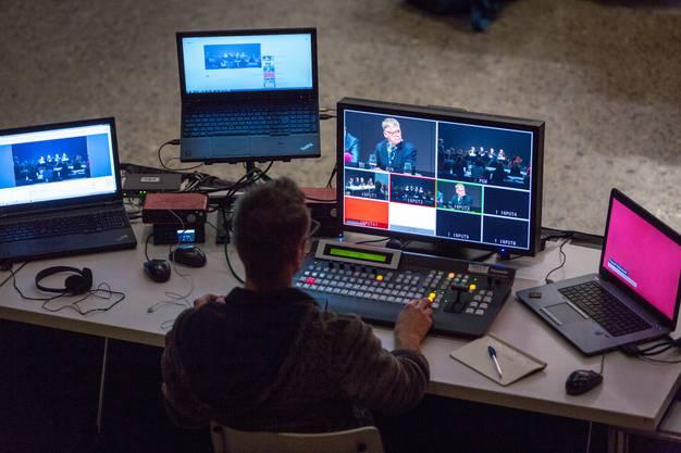 Die Medienkonferenz im Neubau des Zürcher Landesmuseums wurde live übertragen.