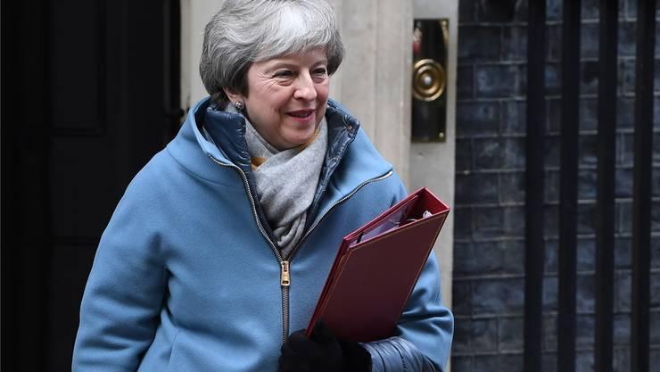 Theresa May gestern auf dem Weg zu ihrer Rede im Unterhaus. keystone