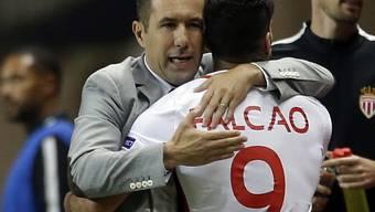 Monacos Trainer Leonardo Jardim bedankt sich bei Radamel Falcao