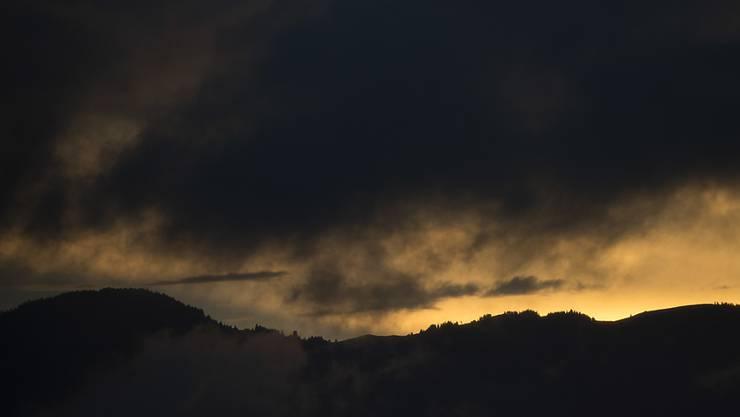 Im August hat es in der Schweiz wegen starken Gewittern viel Niederschlag gegeben. (Bild vom 14. August aus dem Gurnigelgebiet BE)
