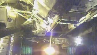 Anspruchsvolle Reparatur an der internationalen Raumstation ISS: Der italienische Raumfahrer Luca Parmitano und der US-Amerikaner Andrew Morgan haben das Magnetspektrometer AMS an der ISS geflickt.