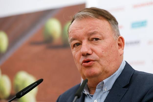Auch Swiss-Tennis-Präsident René Stammbach wurde überrascht.