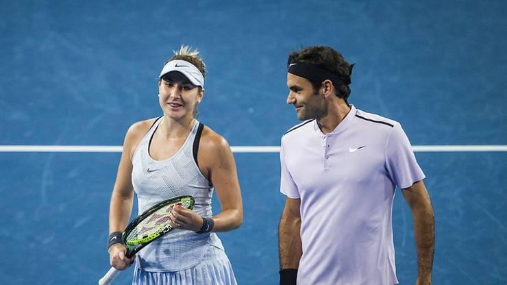 Belinda Bencic sagt, sie profitiere von der Erfahrung Roger Federers.