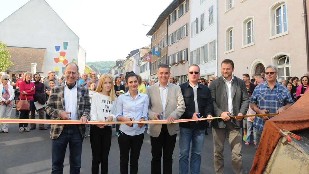 Feierlicher Akt – Städtchen Klingnau wieder offen