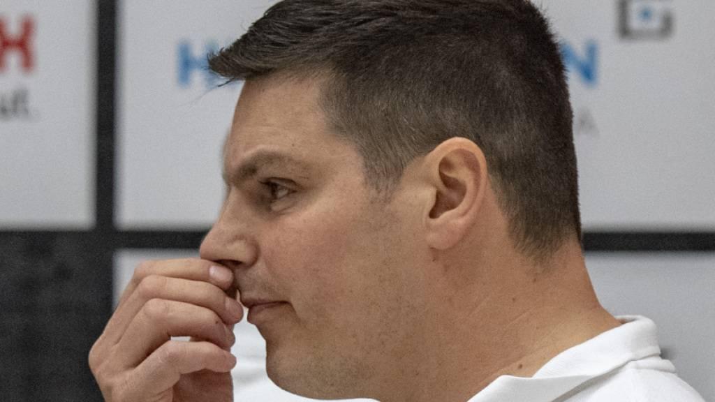 Fehlte wegen eines positiven Coronatests: BSV Berns Coach Aleksandar Stevic