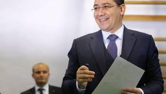 Victor Ponta bei der Stimmabgabe in Bukarest