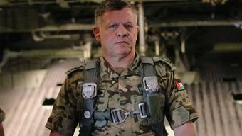 Kampfanzug statt Krone: Der jordanische König Abdullah.