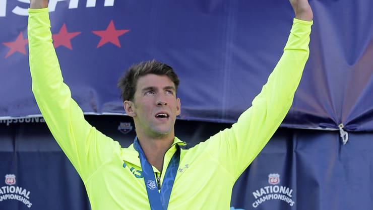 Michael Phelps präsentiert sich in Texas in Topform