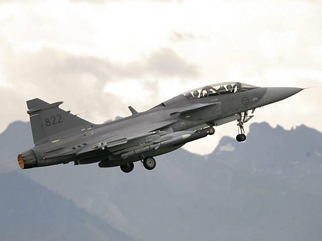 So bewirbt Saab den Kampfjet Gripen