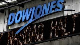 Anzeige am Times Square von New York bei der Panne im August