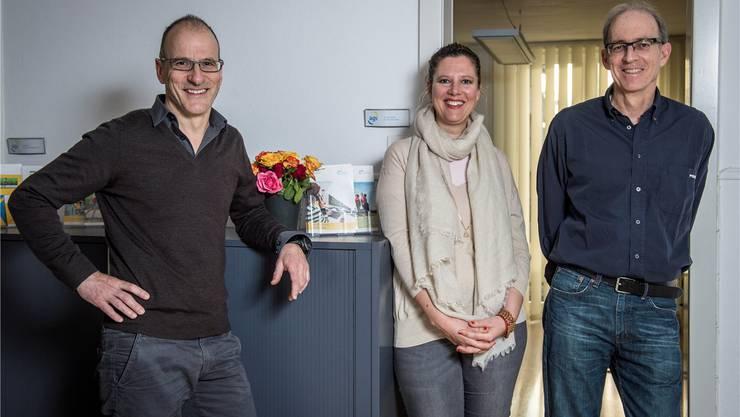 Ein eingespieltes Beraterteam (v. l.): Christian Solèr, Helen Frei und Stellenleiter Hanspeter Stocker.Mathias Marx