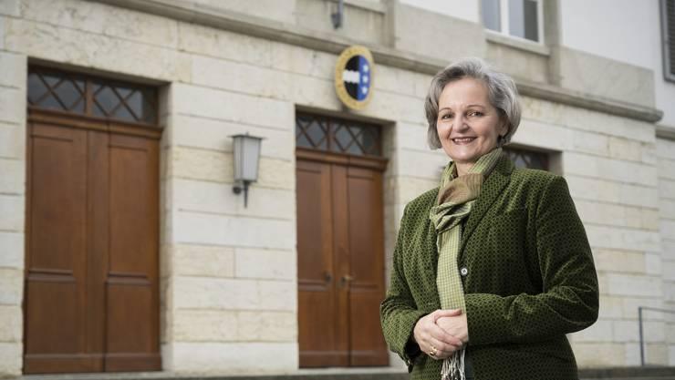 Renata Siegrist leitet heute, nach ihrer Wahl, ihre erste Sitzung als Aargauer Grossratspräsidentin.