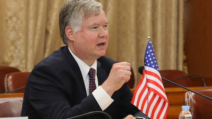 Stephen Biegun, stellvertretender Außenminister der USA, spricht bei einem Treffen in Südkoreas Außenministerium. Foto: -/YNA/dpa