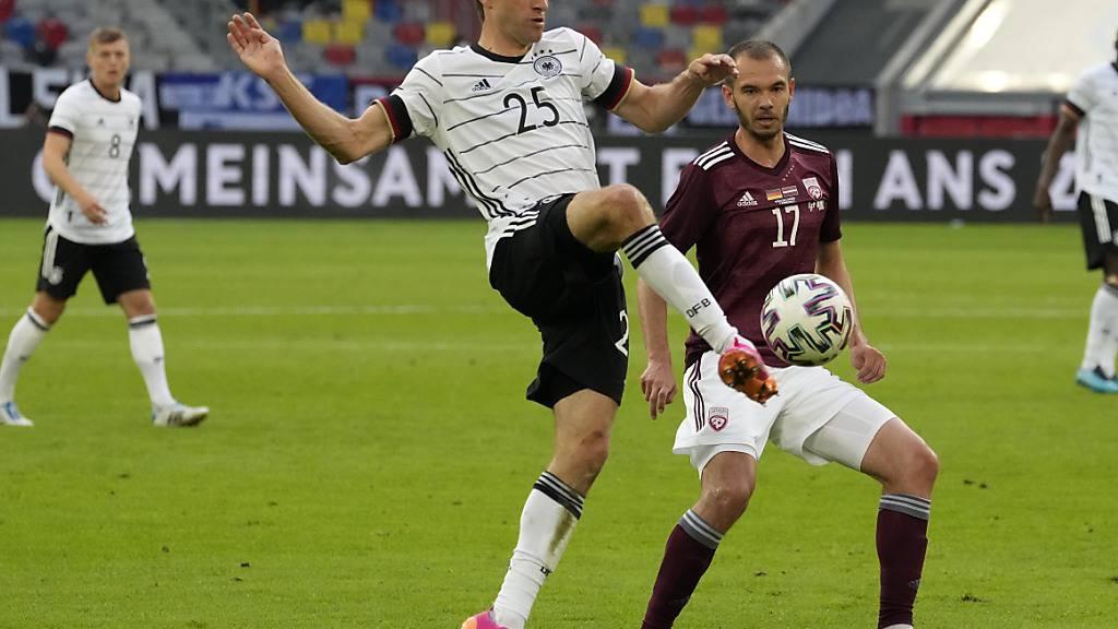 Thomas Müller steht nach seinem Comeback in der Nationalmannschaft im Fokus