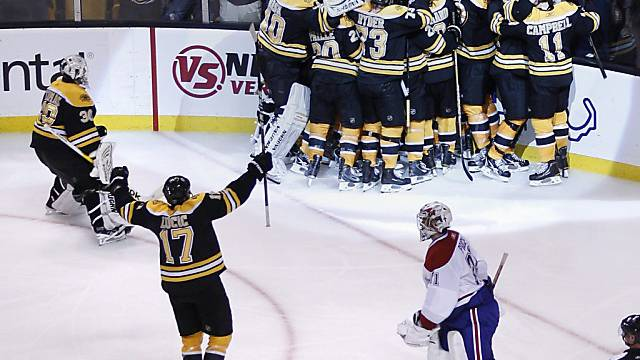Erlösender Jubel der Boston Bruins.