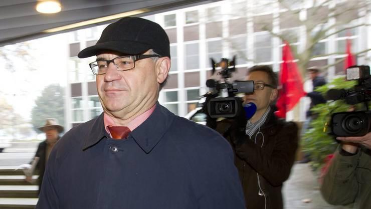 Ex Banker Rudolf Elmer am Obergericht am Donnerstag, 17. November 2011, in Zürich.
