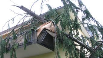 Heftige Stürme und Gewitter im Aargau