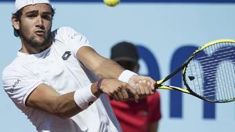 Der 22-jährige Italiener Matteo Berrettini ist einer der Aussenseiter in den Gstaader Halbfinals