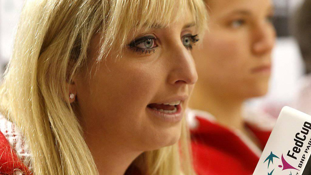 Den Final im Visier: Timea Bacsinszky und das Schweizer Fedcup-Team