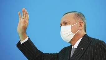 HANDOUT - Fordert die Aufnahme von Gesprächen über eine Zwei-Staaten-Lösung für Zypern: Der türkische Präsident Recep Tayyip Erdogan. Foto: ---/Turkish Presidency/ AP Pool/dpa