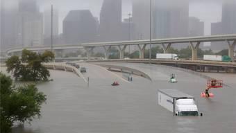 Dauerregen in Houston: Der Tropensturm «Harvey» überschwemmt ganze Strassenzüge der texanischen Millionenmetropole. Richard Carson/Reuters