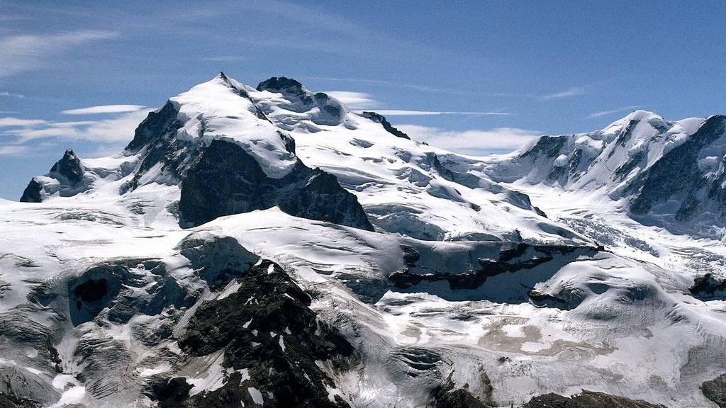 Monte Rosa Massiv bei Zermatt.