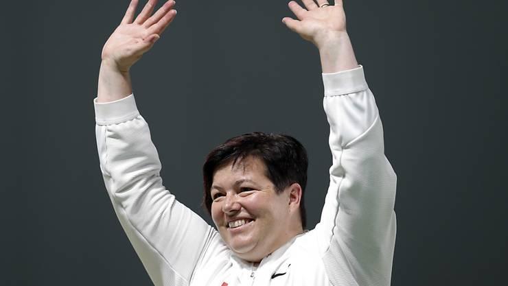 Heidi Diethelm Gerber, im Bild nach dem Gewinn von Olympia-Bronze 2016, holte in Polen EM-Silber