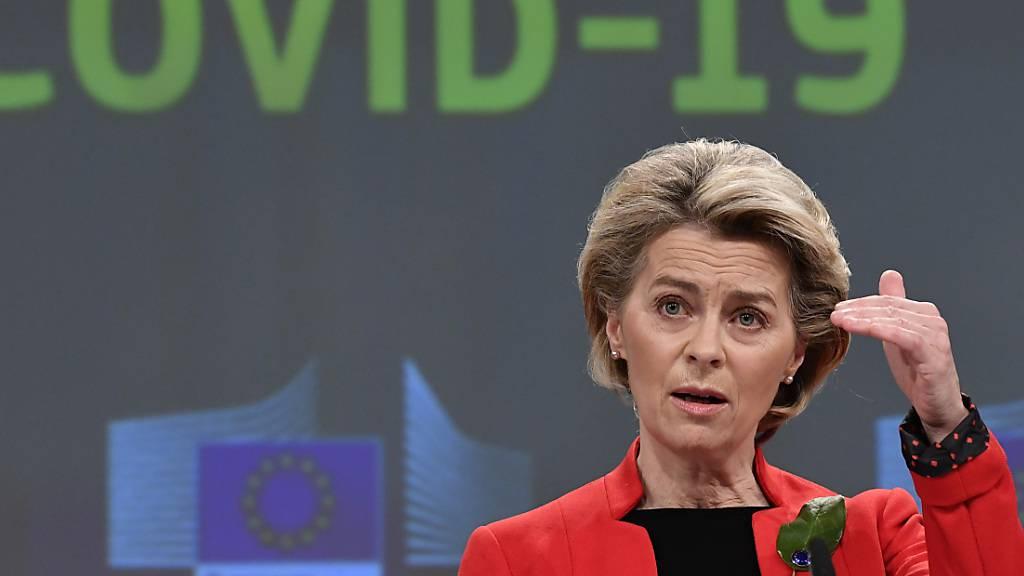 EU-Kommissionschefin: Vorerst keine Impfstoff-Spenden an arme Länder