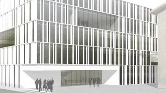 So soll der Erweiterungsbau «vestibule» an der Niklaus-Konrad-Strasse Solothurn zu stehen kommen.zvg